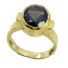 Smoky Quartz Gold Plated Ring ideal Brown gemstone AU K,M,O,Q