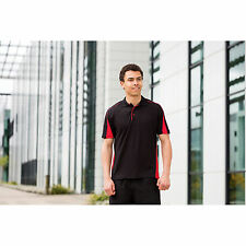 Finden And Hales Club Poly/Cotton Pique Polo Shirt Hemmed Sleeves Contrast Panel