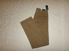CHAPS CORDUROY PANTS MENS STRAIGHT LEG FIT SIZE 32X34 ZIP FLY LIGHT BROWN NWT