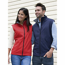 Result Core Soft Shell Bodywarmer Mens Womens Waterproof Sleeveless Jacket