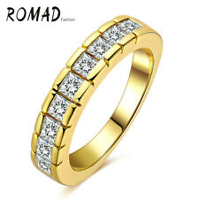 Cubic Zirconia 18K Gold Plated Ring Women Fashion Jewelry Wedding Rings