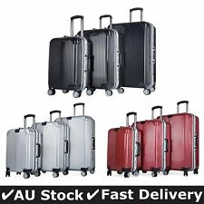 3PC Cabin Luggage Suitcase Trolley Set TSA Lock Travel Carry On Bag Hard Case