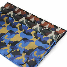 Factory Vintage Mens Polyester Handkerchief Camouflage Pocket Square Hanky 8.6""