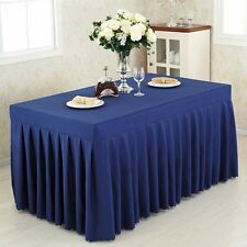 New Lots 4' ft. Fitted Table Skirt Tablecloth Wedding Banquet Pleated Polyester