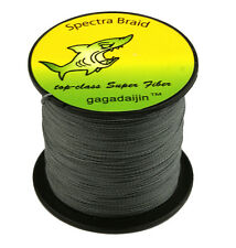 Hot Gray 100/300/500/1000M Dyneema 100%PE Spectra Braid Fishing Line 6LB-300L