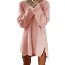 Long Sleeve Sweater Dress Women Knitted Loose Winter pullover Tunic robe hiver