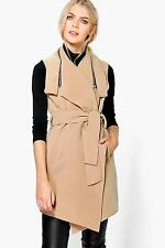 Boohoo Womens Annabelle Sleeveless Coat With Zip