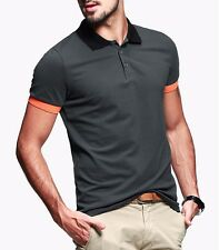 Cotton Hot Mens Casual Polo Shirt Short Sleeve Lapel Solid Color Basic Tee M~XXL