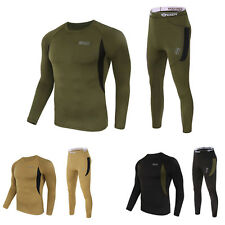 Mens 2pc Thermal Underwear Set Long Johns Waffle Knit Top Johns Bottom S M L XL