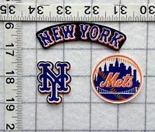 NEW YORK METS MLB Iron On Fabric Appliques No Sew 3 different sets  *FREE SHIP*