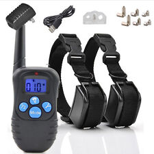 Rechargeable Electric Pet 100LV Shock Vibra Remote For 1/2 Dog Training Collar