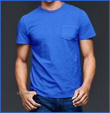 GAP Mens LIVED IN SOLID Crew Neck T Shirt BLUE S Brand New FREE FAST SHIPPING