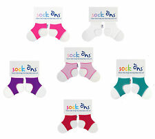 Baby Girls 3 PACK Sock Ons Sock Keepers Size 0-6 Months - Choose Your Colours