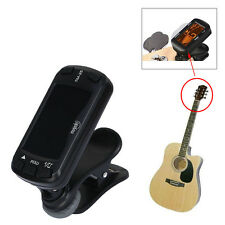 Clip On Metronome Beat Tempo Tuner For Guitar Chromatic Bass Violin Ukulele LCD