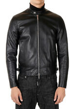 DSQUARED2 Man Black Leather Jacket New with Tags and Original