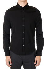 GUCCI Men Black Stretch Cotton Shirt Made in Italy New with Tag Original