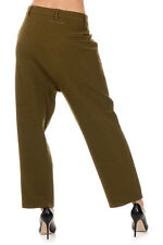 MAISON MARTIN MARGIELA 6 New Women Wool cotton Pleated Pants Made in Italy