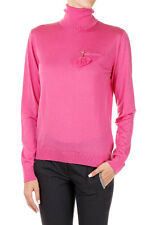 DSQUARED2 Dsquared² New Women Fuxia Turtle neck Wool Sweater Made in Italy NWT