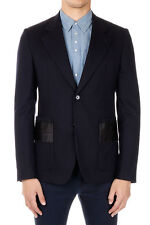 MARTIN MARGIELA MM14 Men Blue Single Breasted Wool Blazer Made in Italy New