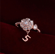Fashion Micro-inlay 1.5 Cts CZ *Camellia No.5* Silver Engagement Wedding Ring