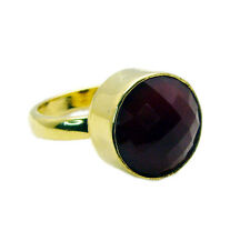 Red onyx Copper Ring L-1in studly Red wholesale AU K,M,O,Q