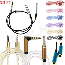 3.5mm Jack Elbow Male to Male Stereo Headphone Car Aux Audio Extension Cable New