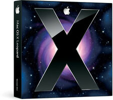 NEW SEALED Retail Boxed Apple Mac Leopard OS X 10.5 (10.5.6) Full Install