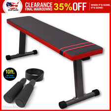 Utility Flat Bench Press Weight Workout Exercise Lifting Fitness Gym Jump Rope