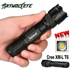 6000LM CREE T6 5 Modes LED Tactical Police Flashlight Torch Lamp Light 18650