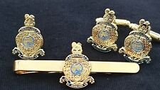 Royal Marines Cufflinks, Tie Clip, Lapel Badge, Set or Individual