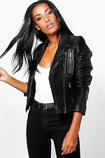 Boohoo Womens Boutique Emily Zip Detail Leather Jacket