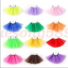 Kids Girls 3 Layer Tutu Ballet Dance Dress Skirt Tulle Pettiskirt Costume