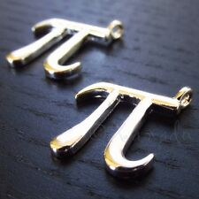 Pi Math Charm - Silver Plated Greek Alphabet Pendants C4507 - 5, 10 Or 20PCs