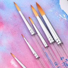 HHwahong Round Synthetic Bristle Artists Watercolor Art Brushes Painting Brush