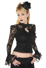 Banned Rose Lace Corset Steampunk Victorian Gothic Shirt Blouse Top PLUS SIZE