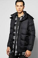 Boohoo Mens Hooded Quilted Parka Jacket