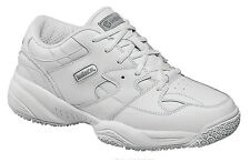 Skidbuster Mens Slip Resistant Athletic M White Action Leather Shoes