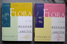 Flora of the Russian Arctic Vol 1 & 2 HC NF Soviet Union botany flowers plants