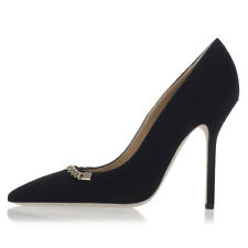 DSQUARED2 D2 New Woman Black Heel Pumps Shoes Decollettes Leather Made Italy