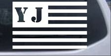 Jeep YJ American USA Flag Right Car or Truck Window Laptop Decal Sticker 3X4.7