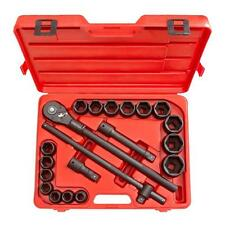 3/4 in. Drive Tekton Shallow Impact Socket Set Quick Release Ratchet Hand Tool