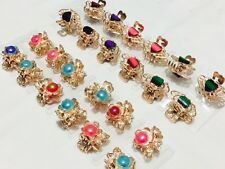 12 * Girls RHINESTONE MINI Hair Claw Clips Clamps Grips