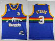 NEW Denver Nuggets #3 Allen Iverson Retro Mesh Blue Jersey Size: S - XXL