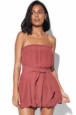 New C/MEO COLLECTIVE Womens Different Light Playsuit Marsala