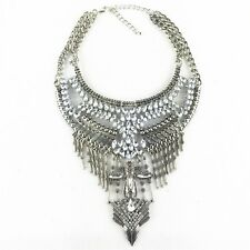 Choker chunky statement Fashion Crystal Chain necklace metal vintage costume Jew