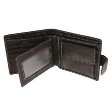 NEW MENS PU LEATHER WALLET VINTAGE BIFOLD ID CARD HOLDER COIN PURSE BLACK/COFFEE
