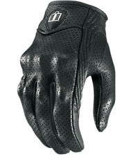 ICON WOMENS PURSUIT GLOVES BLACK LEATHER PERFORATED MOTORCYCLE RIDING STREET