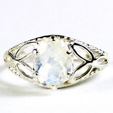 Rainbow Moonstone, 925 Sterling Silver Ladies Ring-Handmade, SR137