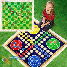 NEW Giant Snakes and Ladders or Ludo Play Mat Board Traditional Childrens Game