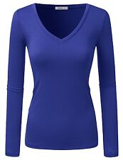 Doublju Sexy Deep V-Neck Slim Fit T-Shirt (Made In USA / Plus SZ available)